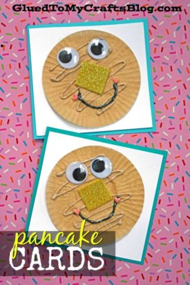 Cupcake Liner Pancake Friend Cards