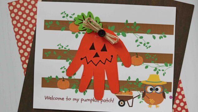 Welcome To My Pumpkin Patch - Handprint Keepsake Printable