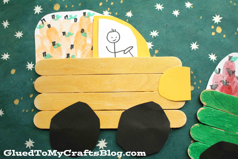 Popsicle Stick Farm Trucks - Kid Craft