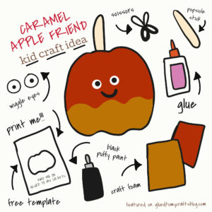 Caramel Apple Friend - Kid Craft Idea