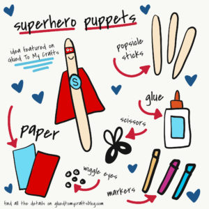 Popsicle Stick Superhero Kid Craft Idea