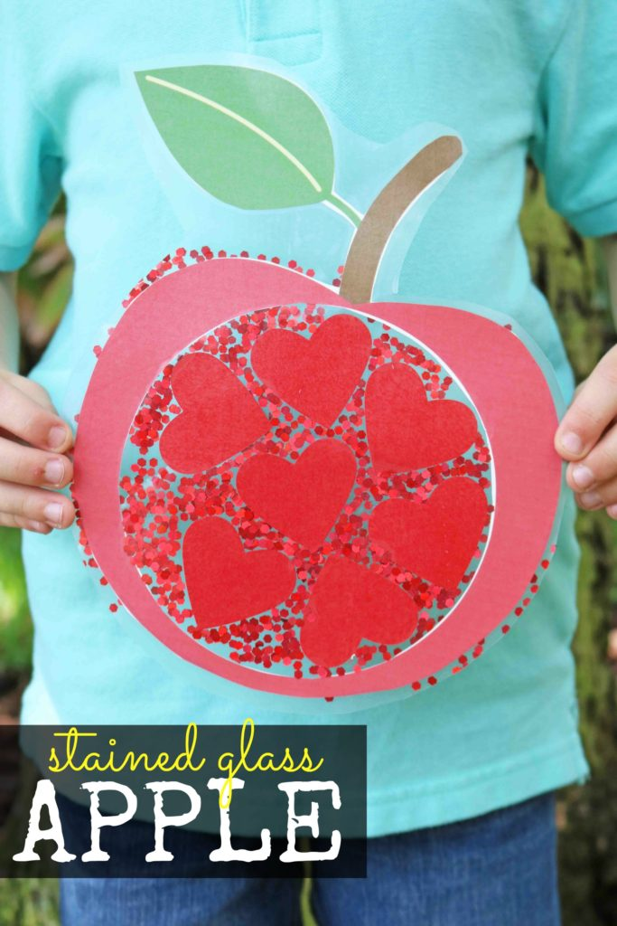 Stained Glass Apple Kid Craft Idea For Back To School Season