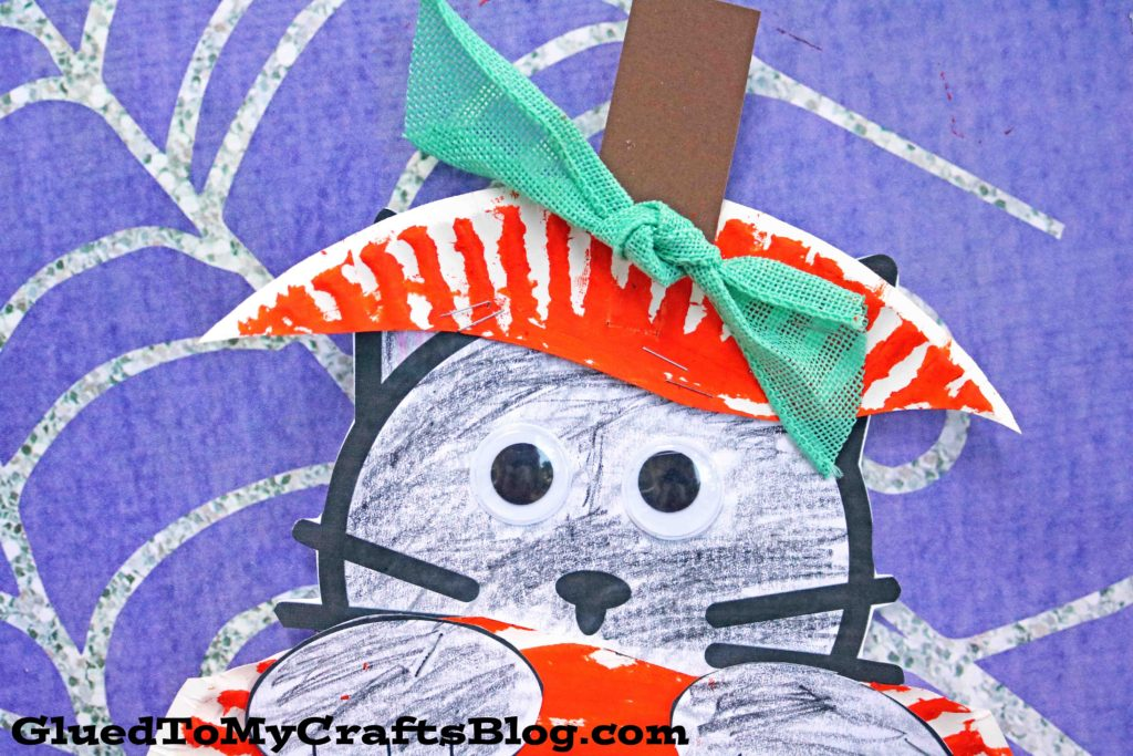 Paper Plate Black Cat In Pumpkin - Kid Craft