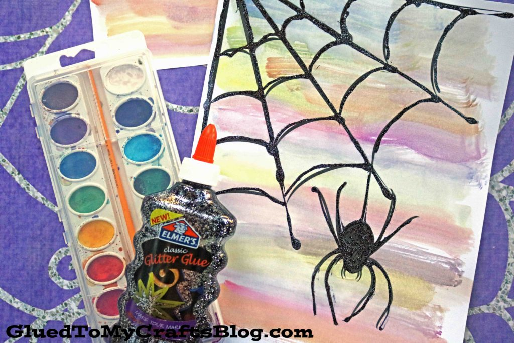 Watercolor Spider Web - Kid Craft Idea