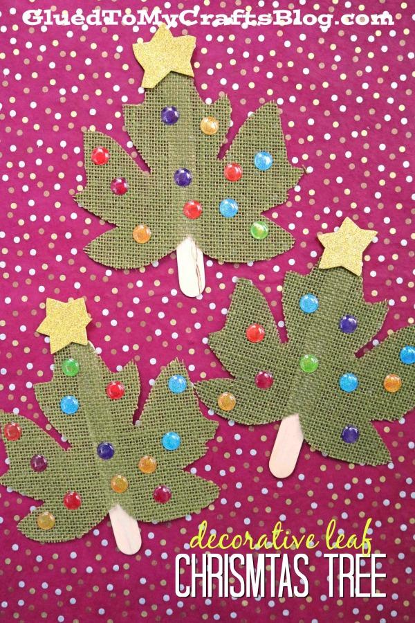 Decorative Plastic Christmas Tree - Holiday Kid Craft Idea