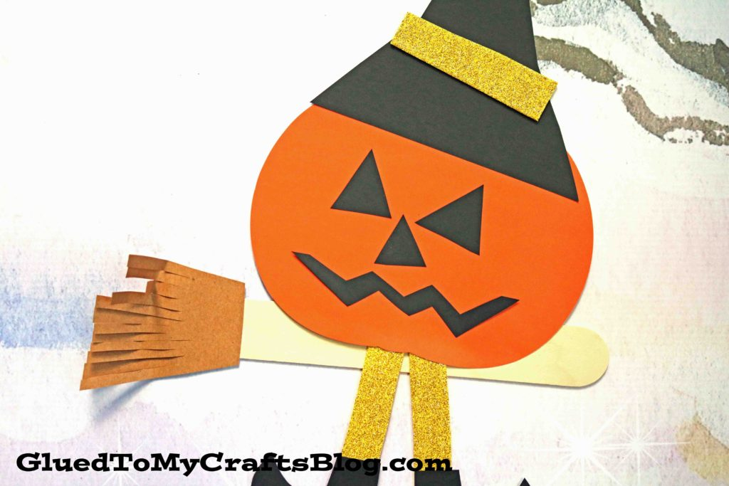 Flying Pumpkin Witch - Kid Craft