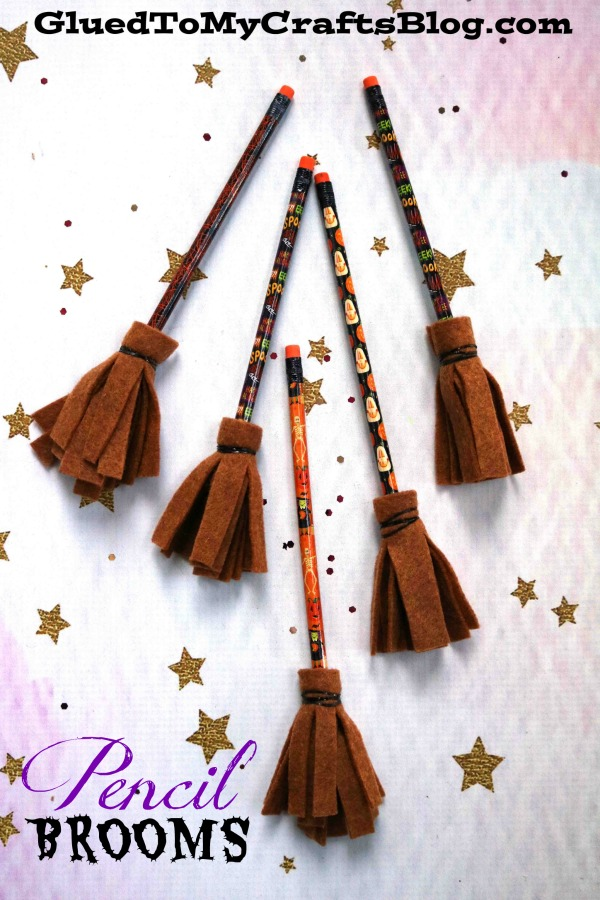 Halloween Party Favors - Pencil Witch Brooms