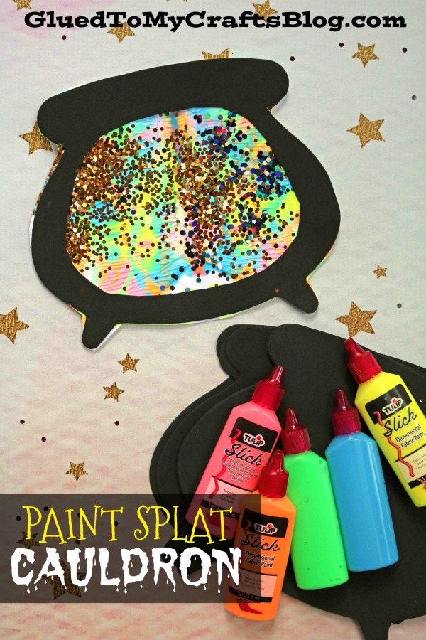 Paint Splat Witch's Cauldron - Kid Craft