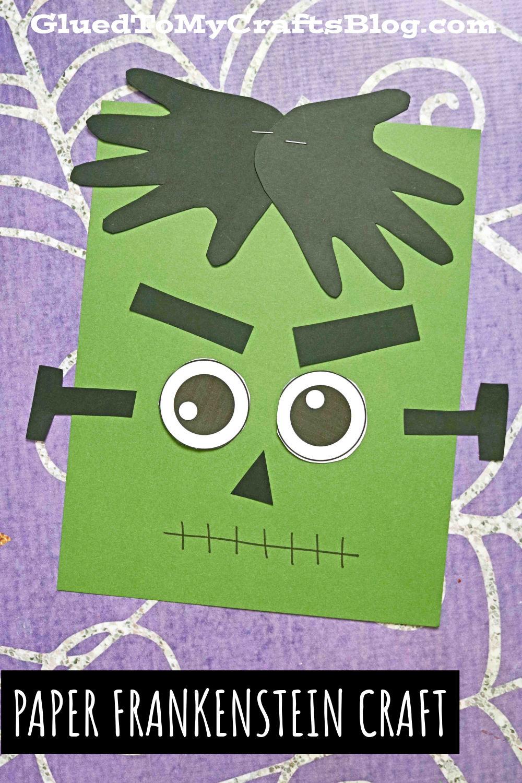 Paper Handprint Frankenstein - Keepsake Kid Craft