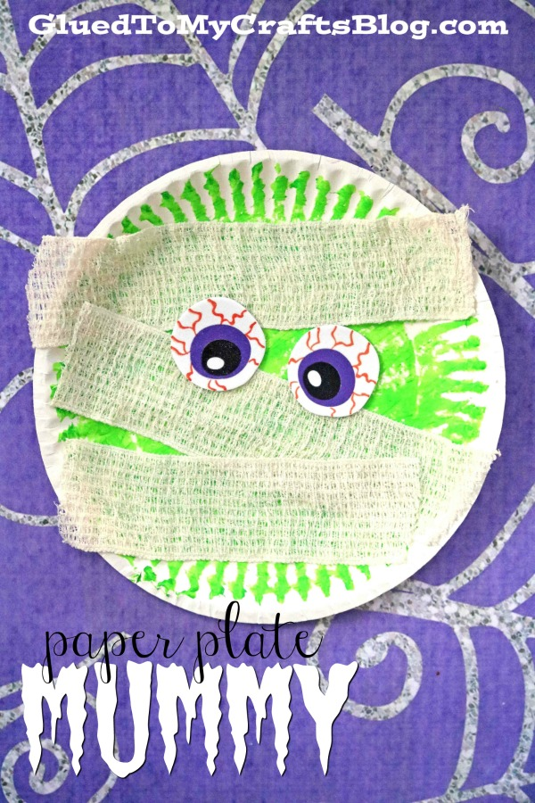 Paper Plate Mummy - Kid Craft Idea