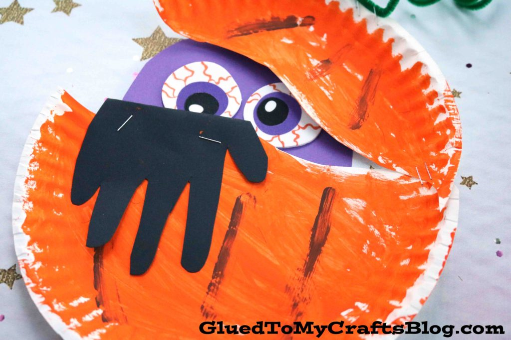 Paper Plate Pumpkin Monster - Kid Craft