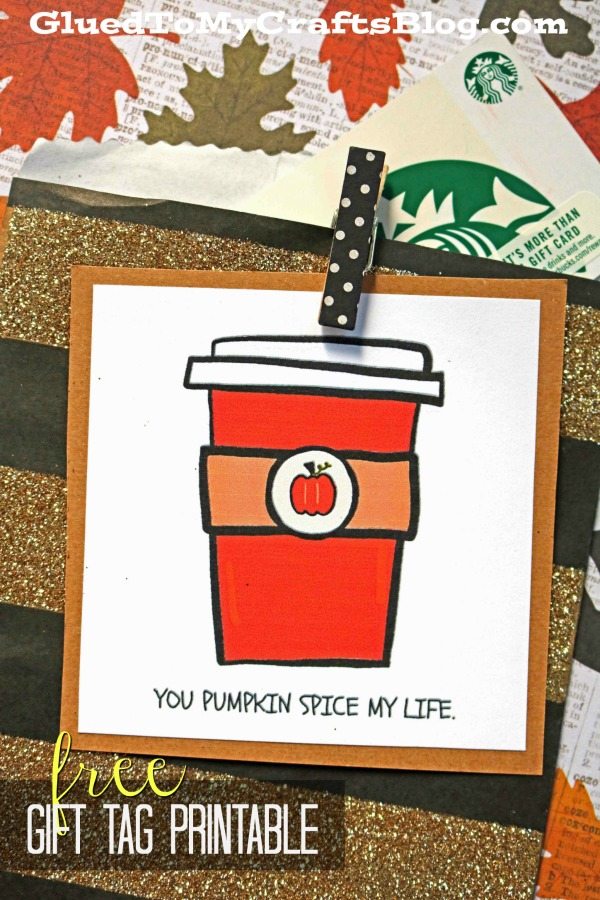 Pumpkin Spice of my Life - Free Gift Tag Printable