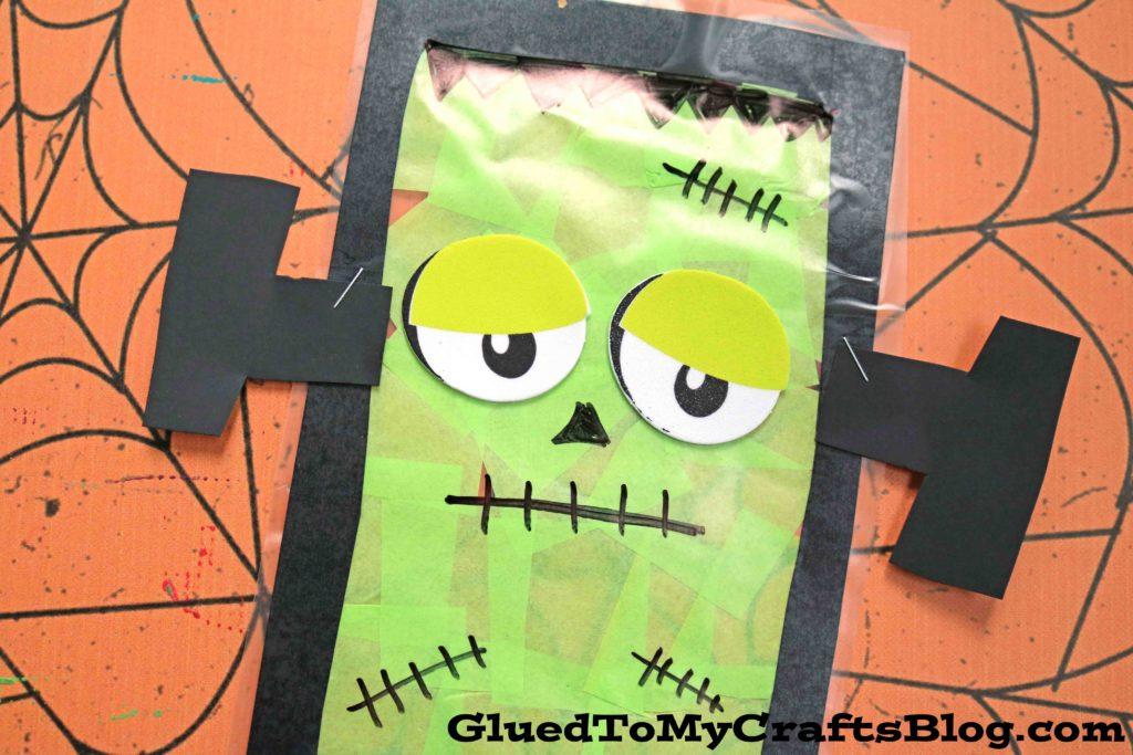 Stained Glass Frankenstein Head - Kid Craft