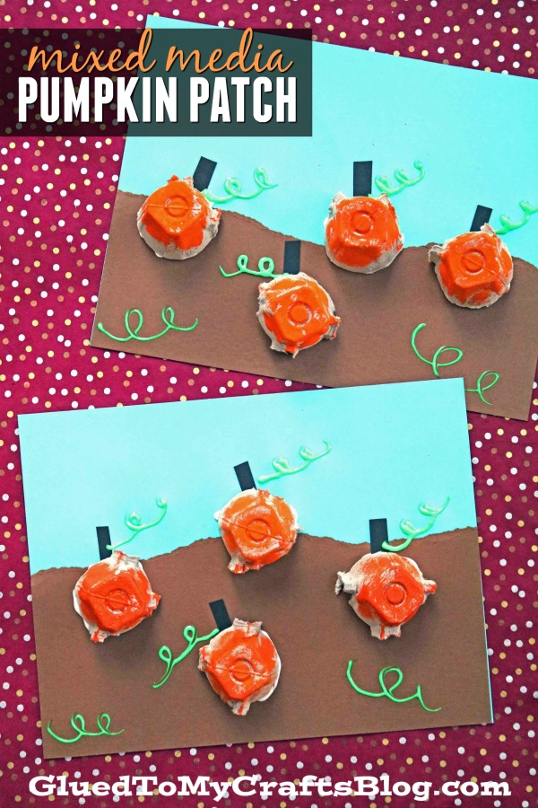 Egg Carton Pumpkin Patch - Kid Craft