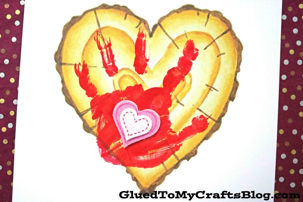 Little Forever - Handprint Wood Slice Heart Keepsake Printable