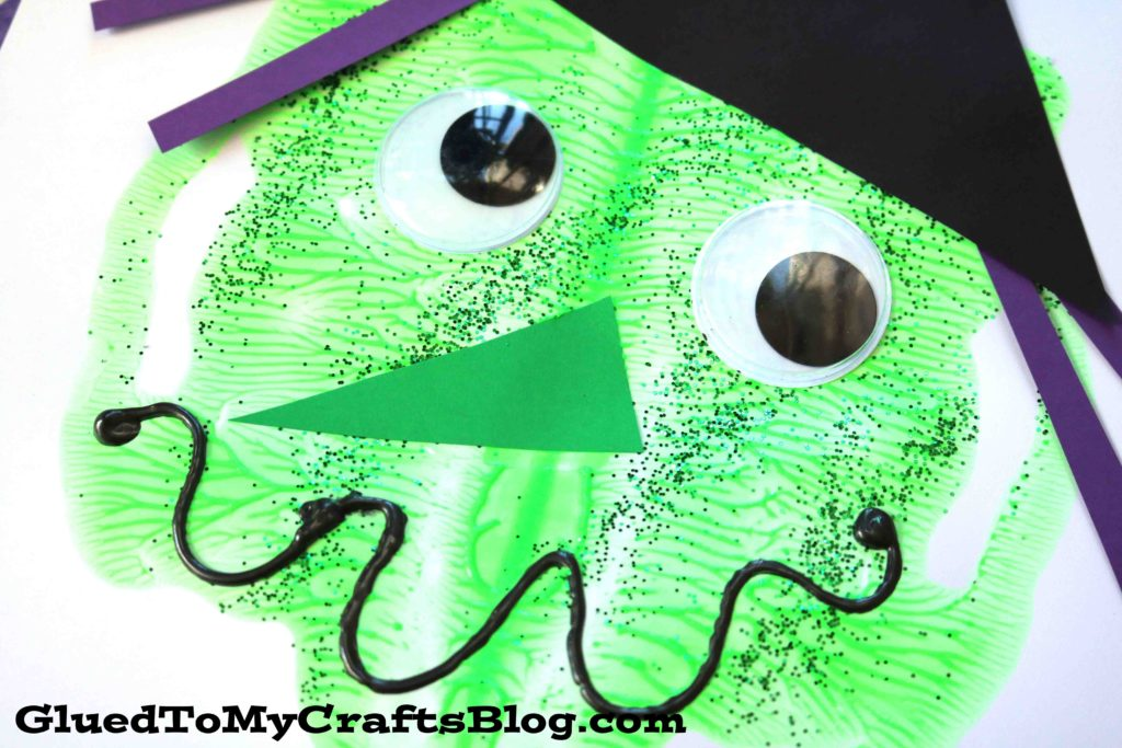 Paint Splat Witch Face - Halloween Kid Craft
