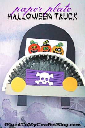 Paper Plate Halloween Truck - Kid Craft
