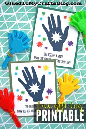 You Are Deserve A Hand - Free Gift Tag Printable