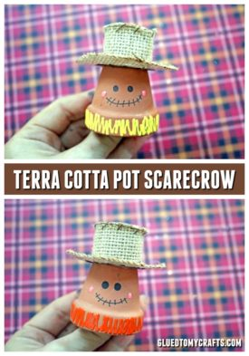 Terra Cotta Pot Mini Scarecrows - Fall Craft Idea