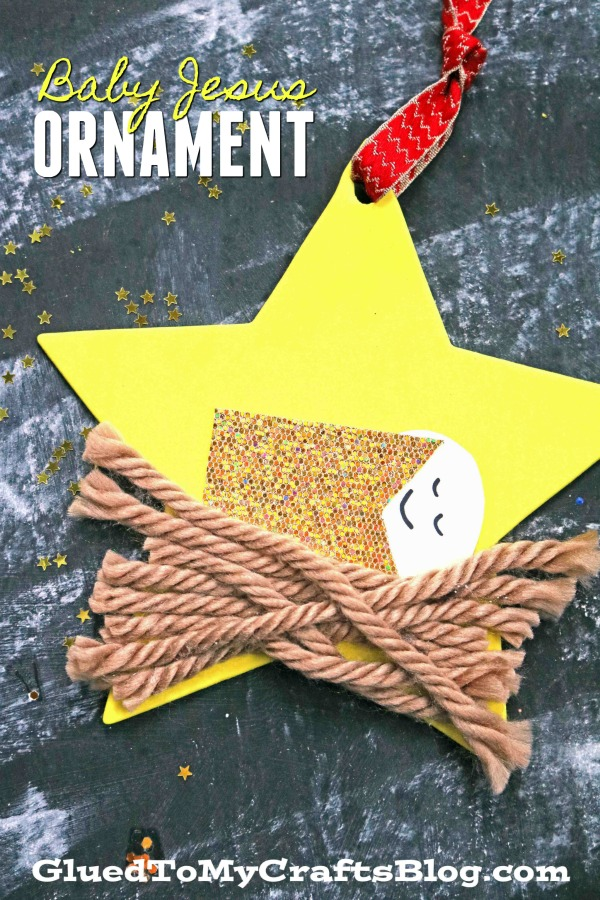 Baby Jesus Christmas Star Ornament - Kid Craft