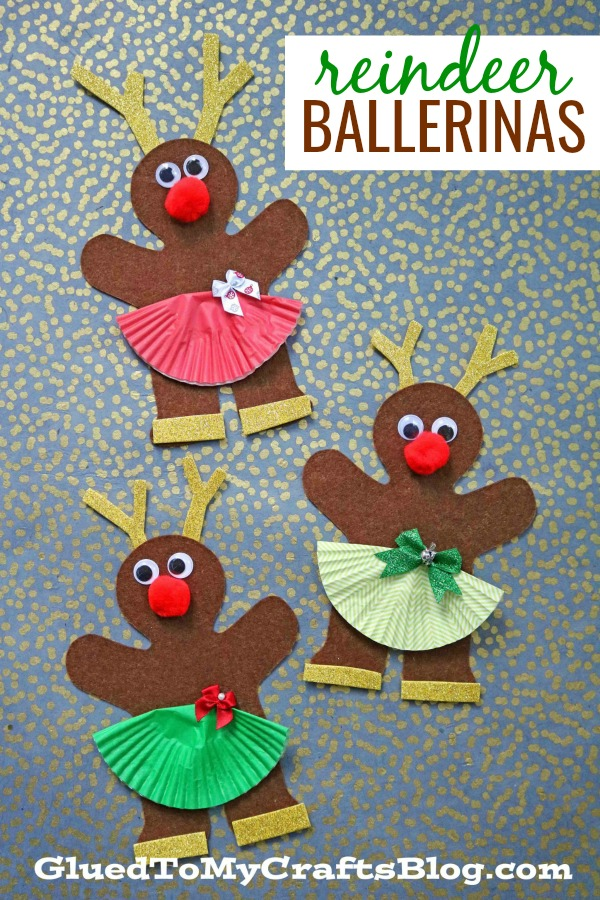 Gingerbread Reindeer Ballerina Friends - Christmas Kid CraftGingerbread Reindeer Ballerina Friends - Christmas Kid Craft