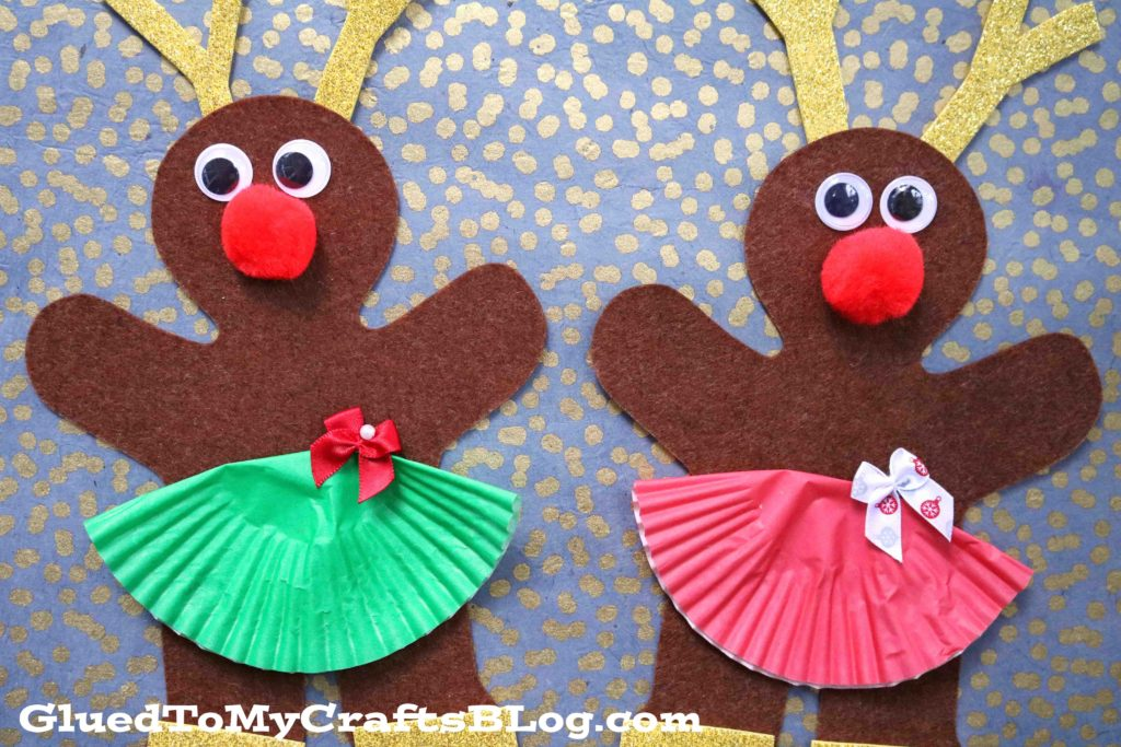 Gingerbread Reindeer Ballerina Friends - Christmas Kid Craft