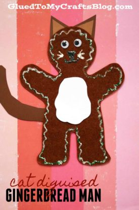 Cat Disguised Gingerbread Man