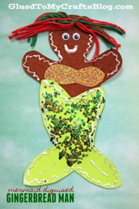 Mermaid Disguised Gingerbread Man