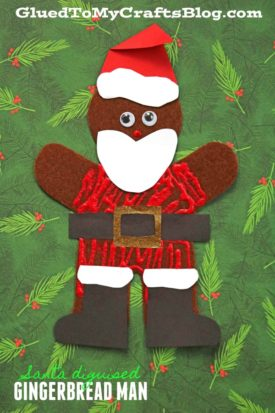 Santa Disguised Gingerbread Man
