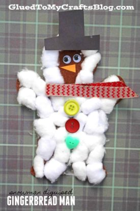 Snowman Disguised Gingerbread Man