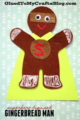 Superhero Disguised Gingerbread Man
