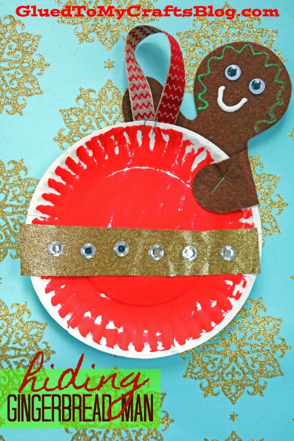 Hiding Gingerbread Man - Paper Plate Kid Craft