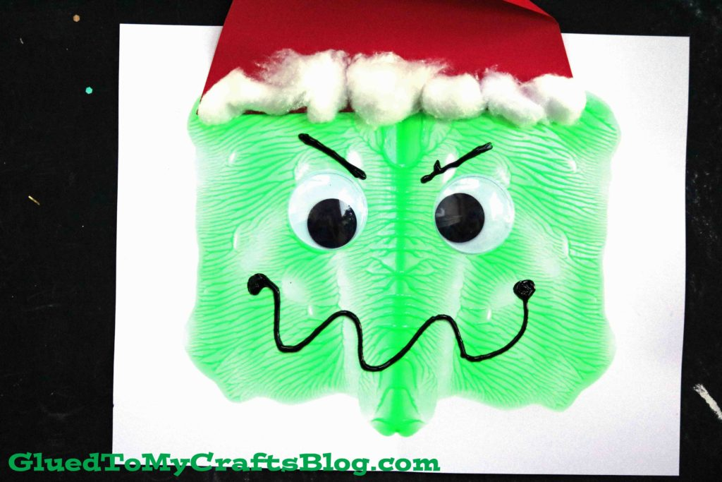 Paint Splat Grinch Face - Kid Craft