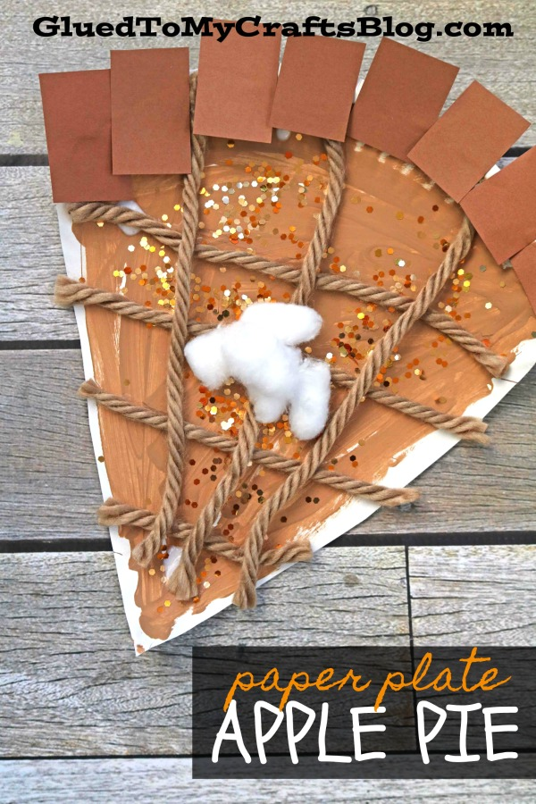 Paper Plate Apple Pie Slice - Kid Craft Idea For Thanksgiving