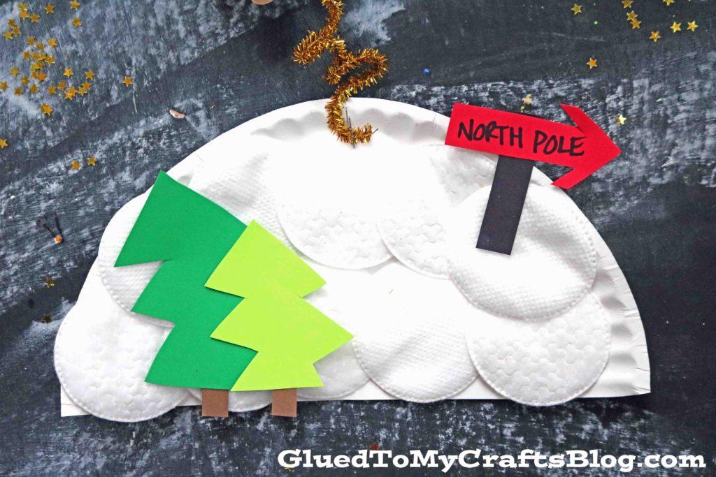 Paper Flying Reindeer - Christmas Kid Craft
