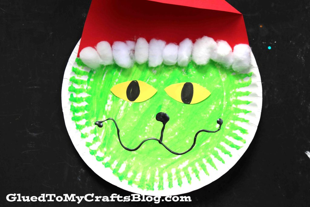 Paper Plate Grinch - Christmas Kid Craft