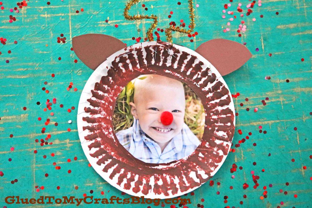 Paper Plate Reindeer Frame - Kid Craft
