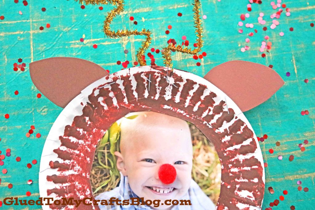 Paper Plate Reindeer Frame - Kid Craft