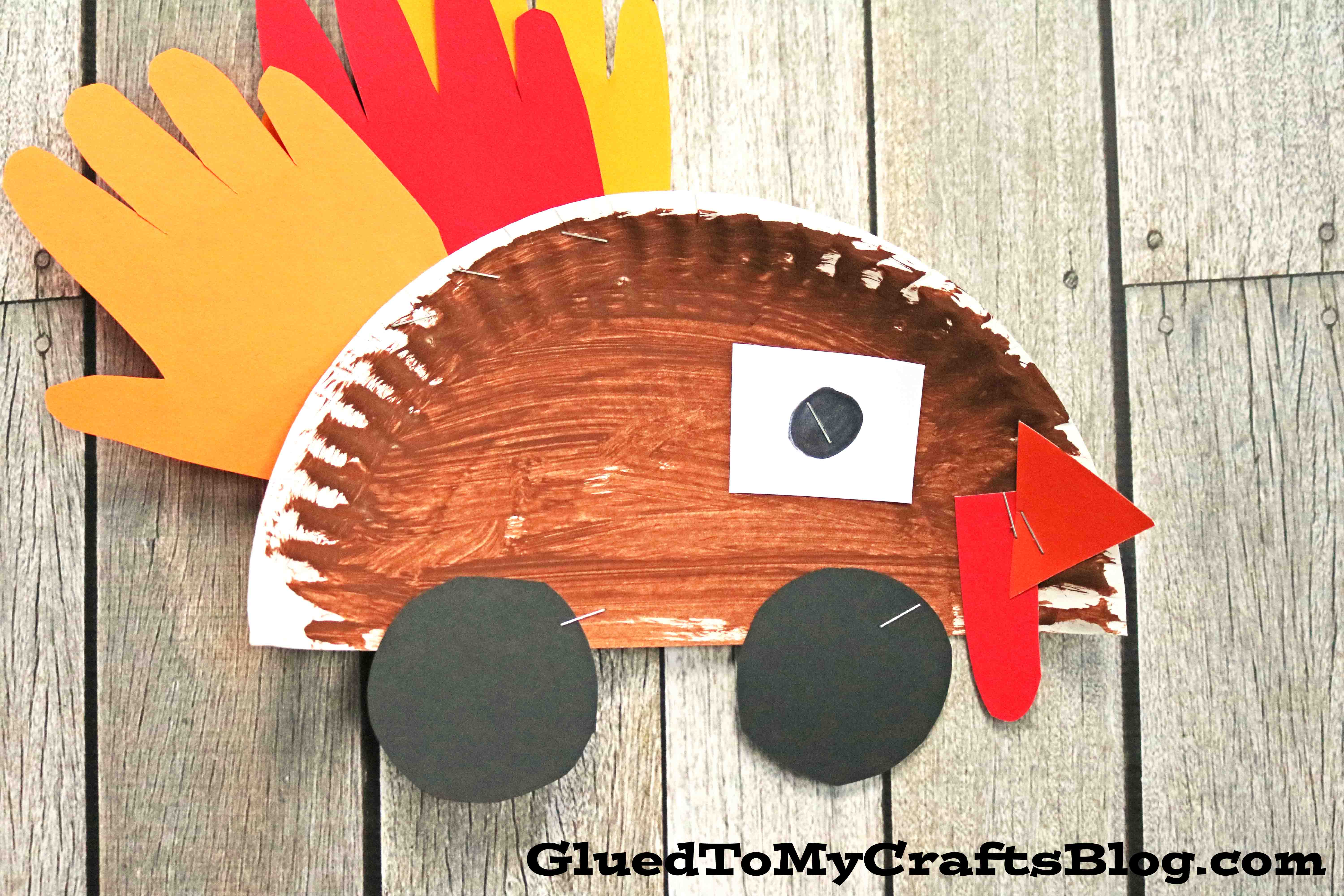 Paper Plate Turkey Cars Kid Craft For Thanksgiving