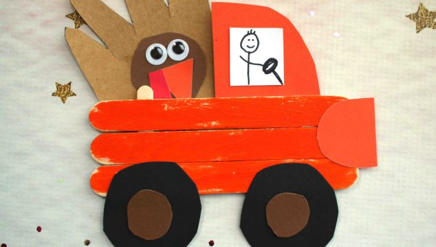 Popsicle Stick Thanksgiving Truck - Kid Craft