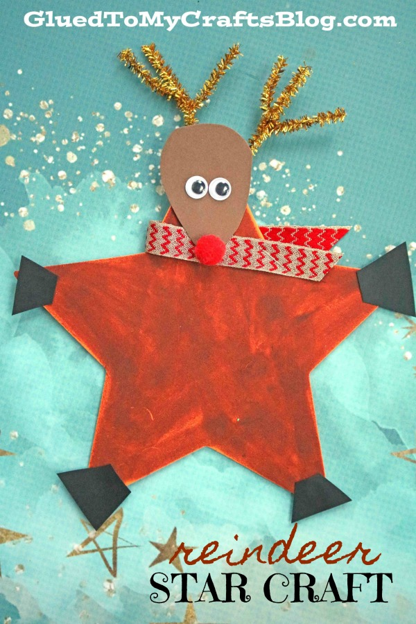 Festive Reindeer Star Ornament - Christmas Kid Craft