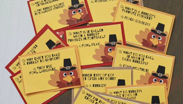 Kid Approved - Thanksgiving Joke Printables