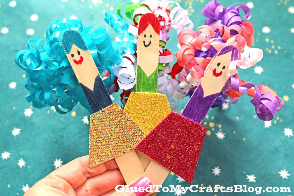 Curly Sue Puppets - Kid Craft