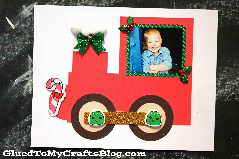 Paper Christmas Train Keepsake Craft Idea For Kids To Make