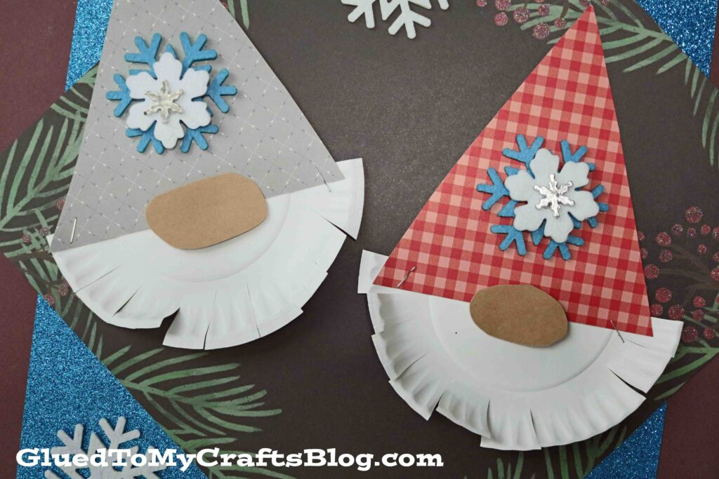 Paper Plate Bearded Christmas Gnome - Kid Craft