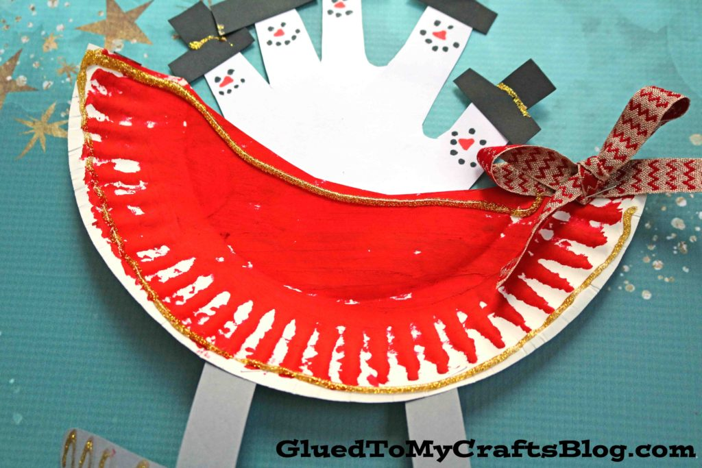 Paper Plate Snowman Sleigh - Kid Craft