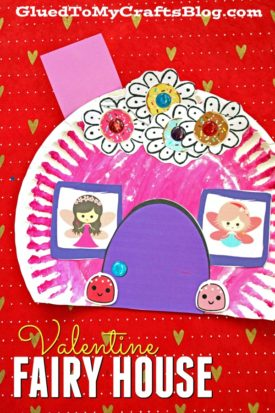 Paper Plate Valentine Fairy House - Kid Craft