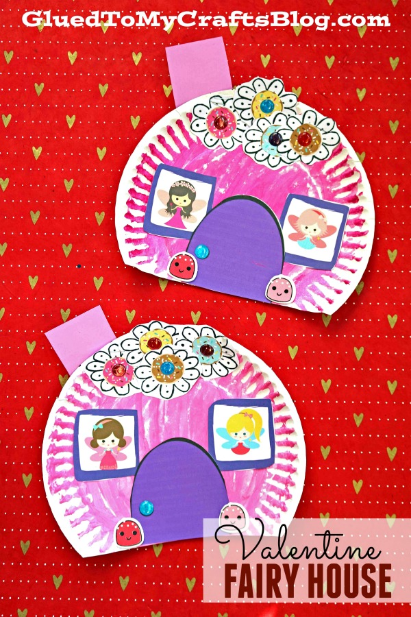 Paper Plate Valentine Fairy House - Kid Craft