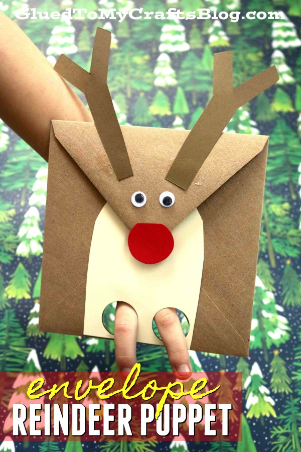 Reindeer Envelope Puppet - Kid Craft