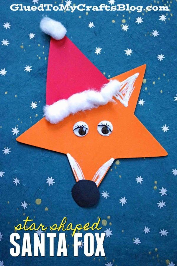 Craft Foam Star Santa Fox - Kid Craft